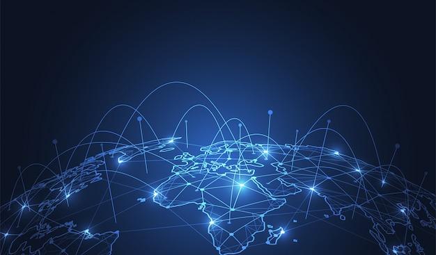Connessione di rete globale.