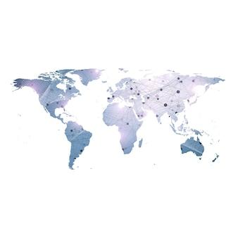 Sfondo delle connessioni di rete globale