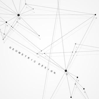 Connessioni di rete globale con punti e linee. sfondo wireframe. struttura di connessione astratta. fondo dello spazio poligonale. illustrazione vettoriale.