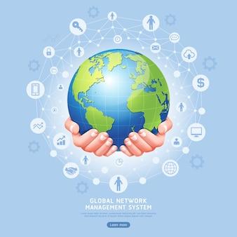 Sistema di gestione della rete globale concettuale