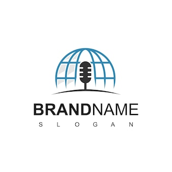 Modello di progettazione del logo del podcast globale