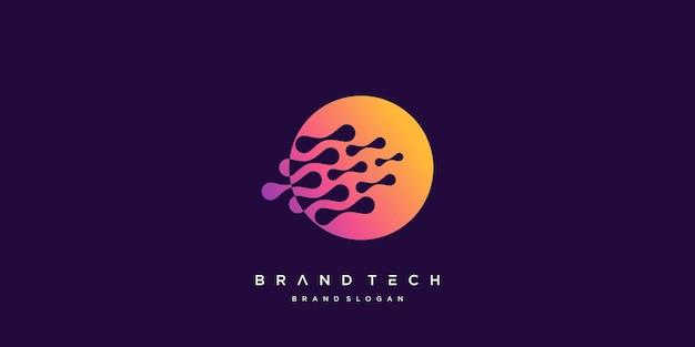Logo della tecnologia globale con il vettore digitale dei dati del mondo del concetto astratto creativo parte 3