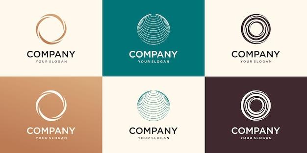Modello di logo aziendale del globo