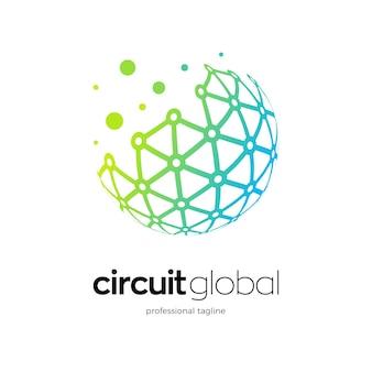 Logo del globo con griglia di dati