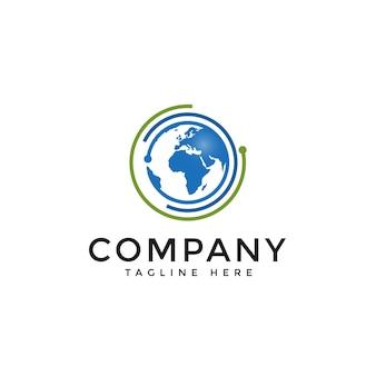 Mondo del globo connect logo vector