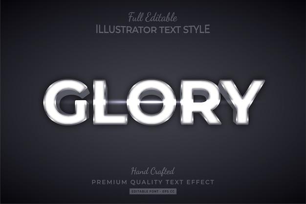 Gloria argento modificabile effetto testo 3d stile premium