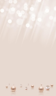 Sfondo astratto lucido con perle realistiche anf luce