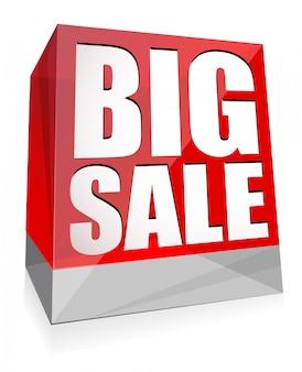 Cubetti di vetro colorato lucido banner grande vendita