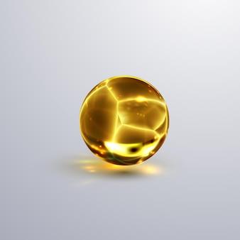 Sfera di cristallo incrinato lucido