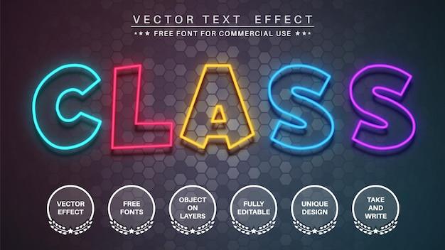 Colore bagliore modifica lo stile del carattere dell'effetto del testo