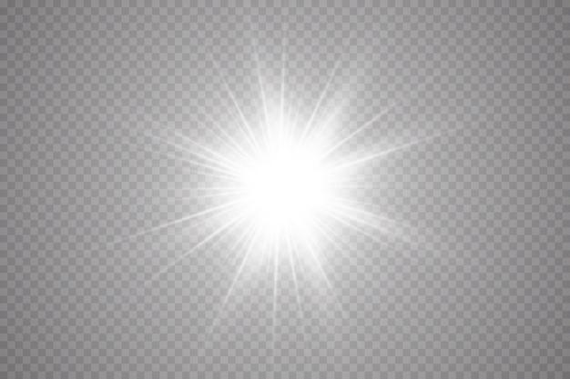 Effetto bagliore stella, sole splendente.