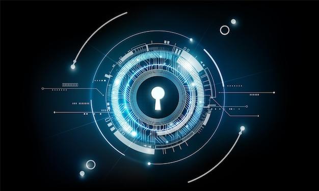 Bagliore buco della serratura astratto tecnologia futuristica sfondo segreto e concetto di soluzione di successo