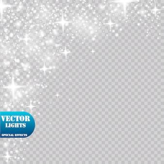 Effetto luce bagliore. illustrazione. concetto di natale flash.