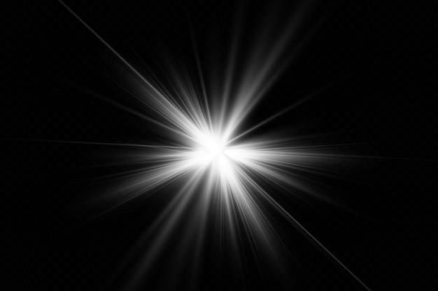 Decorazione di illustrazione effetto luce bagliore