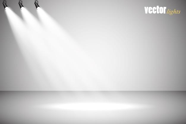 Effetto luce bagliore isolato su grigio