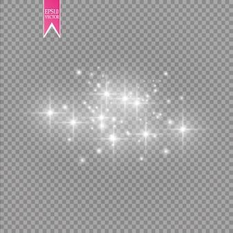 Effetto luce bagliore isolato su sfondo trasparente