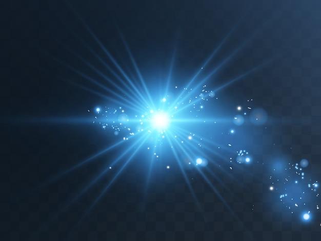 Effetto luce bagliore la stella è esplosa di scintillii
