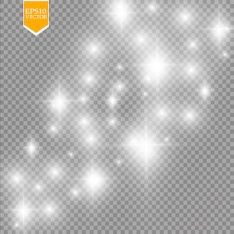 Effetto luce bagliore su sfondo trasparente