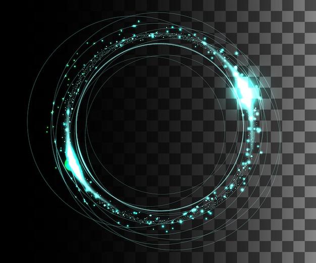 Bagliore bianco effetto trasparente, riflesso lente, esplosione, glitter, linea, lampo solare, scintilla e stelle. per l'arte del modello dell'illustrazione, banner per festeggiare il natale, raggio magico di energia flash.