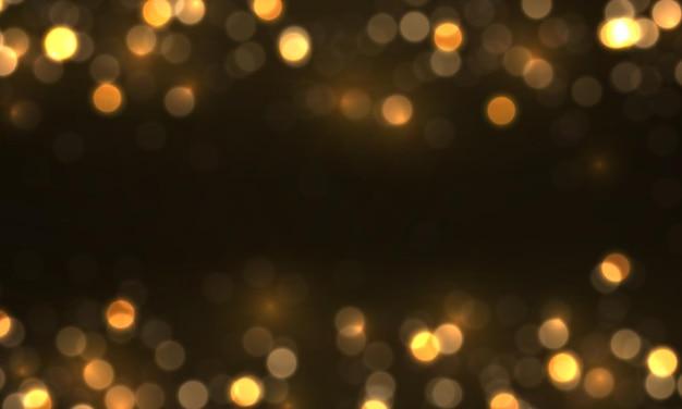 Luci incandescenti bokeh, particelle di polvere magica scintillante