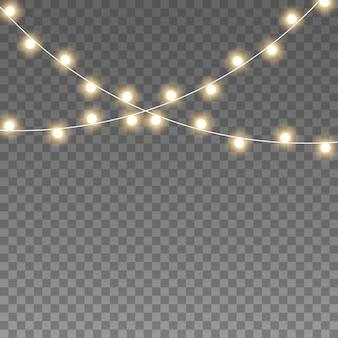 Glowing ghirlanda di luci della lampada della stringa