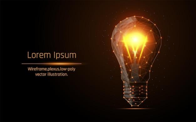 La lampada incandescente simboleggia una nuova idea