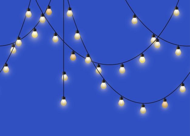 Ghirlanda di lampadine incandescente ghirlanda decorativa ripetuta di lampade decorazioni da parete per feste