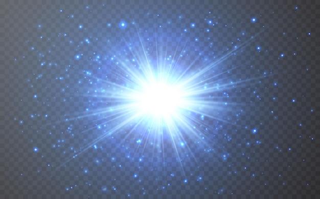 Effetto di luci incandescenti. raggi luminosi astratti del chiarore.