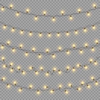 Illustrazione di luci incandescenti
