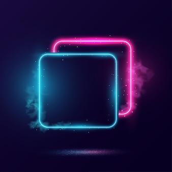 Illustrazione di cornice di illuminazione al neon incandescente