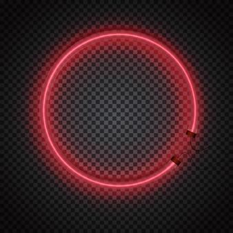 Incandescente cornice del cerchio del tubo al neon