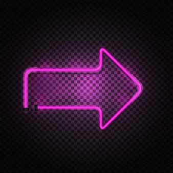 Tubi di freccia al neon rosa incandescente