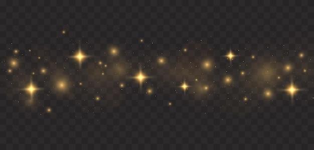 Striature luminose di polvere isolate