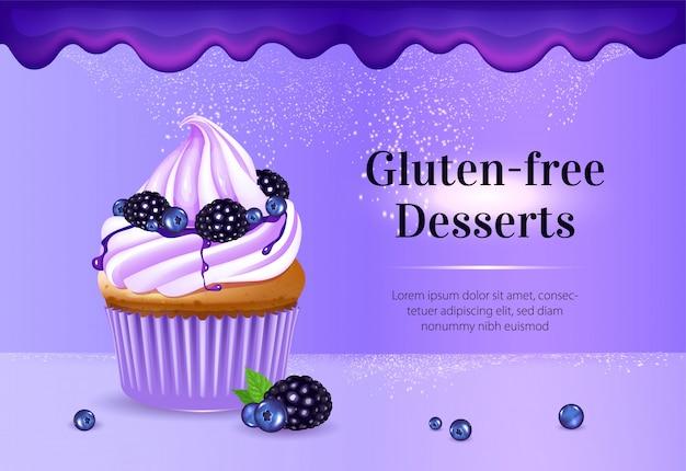 Banner di dessert senza glutine