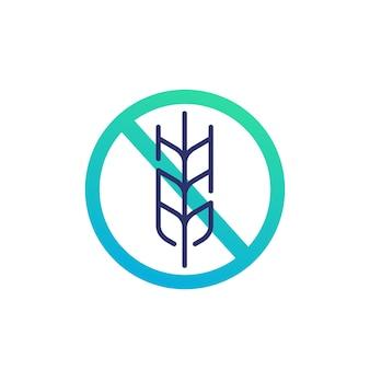 Icona senza glutine, nessun vettore di grano