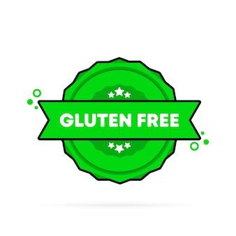 Timbro senza glutine. vettore. icona del distintivo senza glutine. logo distintivo certificato. modello di timbro. etichetta, adesivo, icone. vettore env 10. isolato su priorità bassa bianca.
