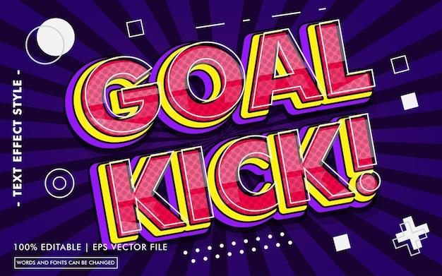 Goal kick! stile effetti di testo