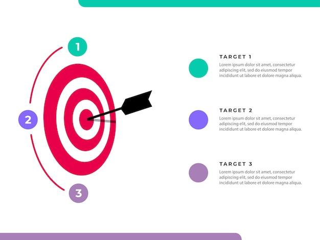 Modello di infografica obiettivi