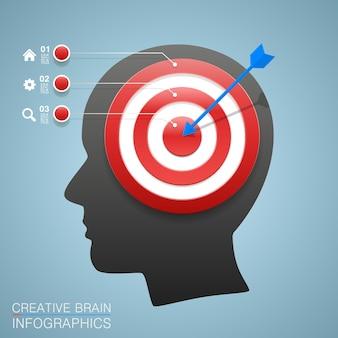 Obiettivi con obiettivo informativo art. illustrazione vettoriale