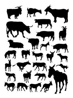 Sagoma di asino mucca capra.
