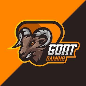 Logo di esport di gioco di capra