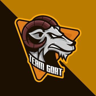 Illustrazione del logo della squadra della testa di capra