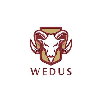 Modello di logo di capra