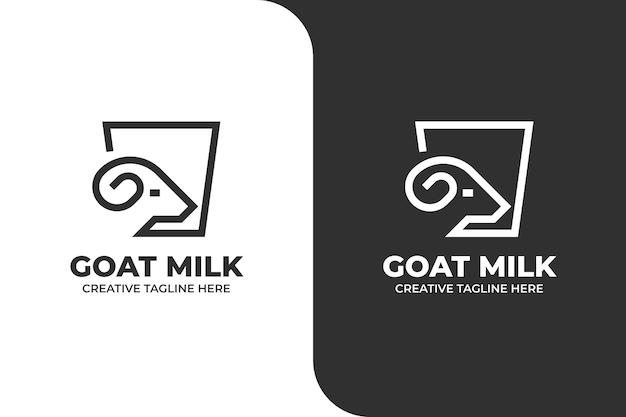Logo aziendale di bevanda salutare al latte di capra