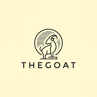 Logo di contorno di capra