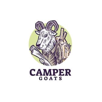 Logo di avventura di capre