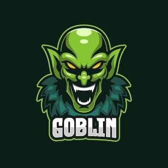 Modello di logo di goblin esports