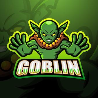 Goblin mascotte esport illustrazione