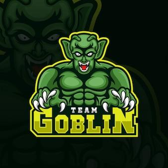 Logo di gioco esport del team goblin
