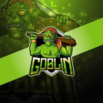 Logo della mascotte esport goblin